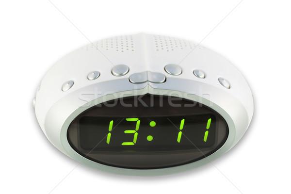 Digitális elektronikus óra modern kompakt fehér Stock fotó © vavlt