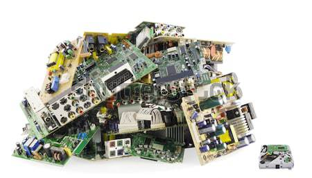 Broken electronics on a garbage dump Stock photo © vavlt