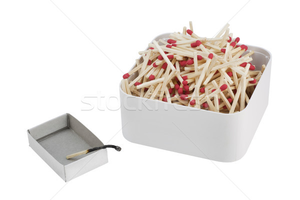 The burned down match. Loneliness concept Stock photo © vavlt