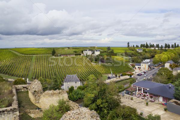 Francia város öreg nyilvános domain mezőgazdaság Stock fotó © vavlt
