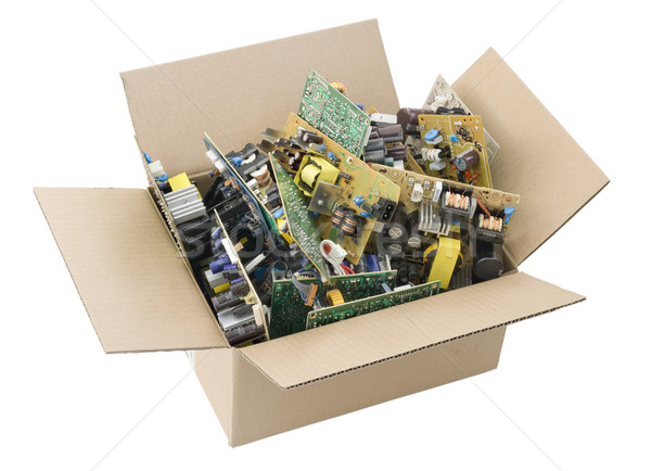 defective printed circuit boards in box Stock photo © vavlt