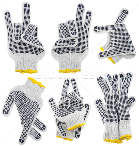 Working gloves, very strange  gestures set Stock photo © vavlt