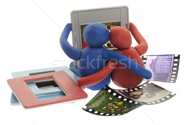 Eski oyuncak adam kadın bakmak fotoğrafları Stok fotoğraf © vavlt