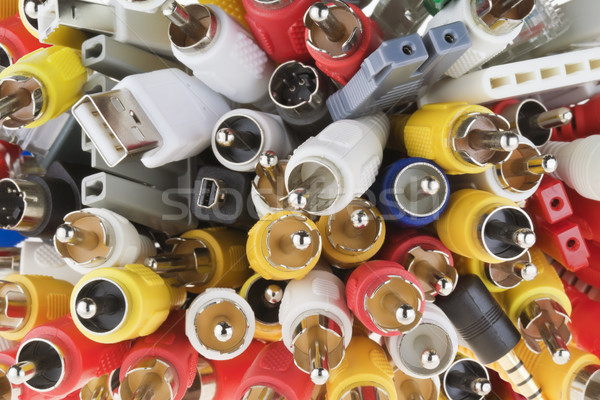 Digital connectors macro background Stock photo © vavlt