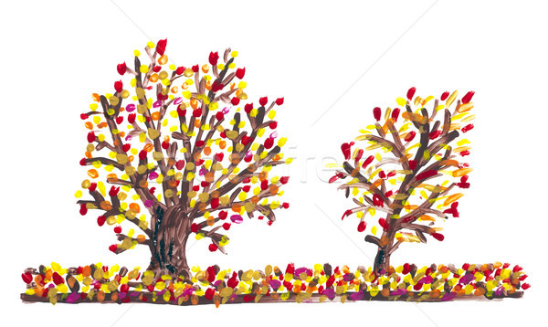 Abstract painted Autumn concept Stock photo © vavlt