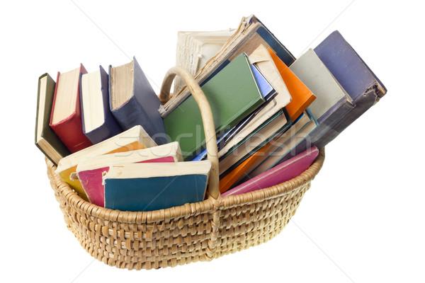 Stock photo: Old worn ragged books