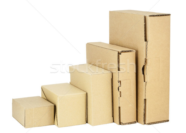 Simple cardboard boxes set for packing  Stock photo © vavlt