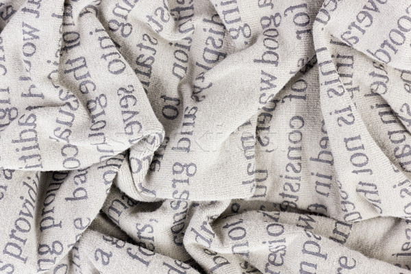 crumpled cotton fabric macro Stock photo © vavlt