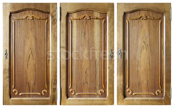 Wooden doors set  Stock photo © vavlt
