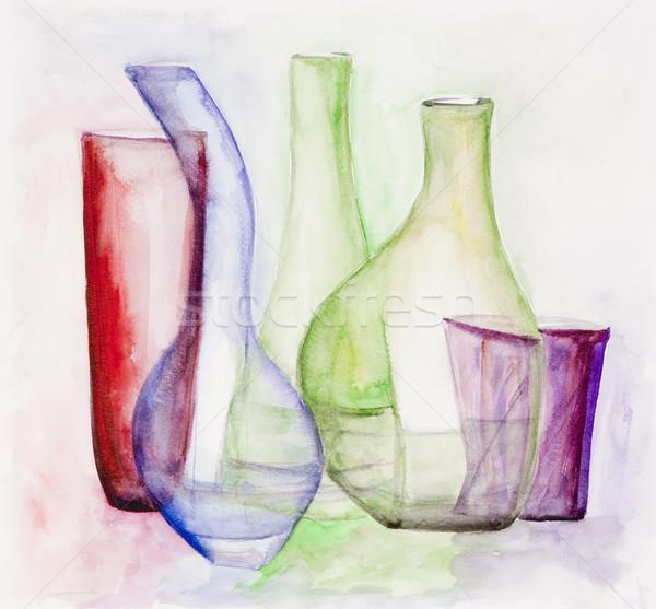 нежный стекла натюрморт акварель окрашенный Сток-фото © vavlt