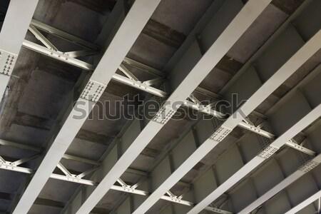 Struktúra vasaló híd acél erős erő Stock fotó © vavlt