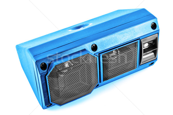 Extrano coche altavoz brillante azul automóvil Foto stock © vavlt