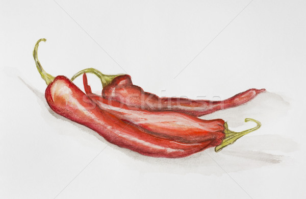 Red hot chili peppers paints Stock photo © vavlt