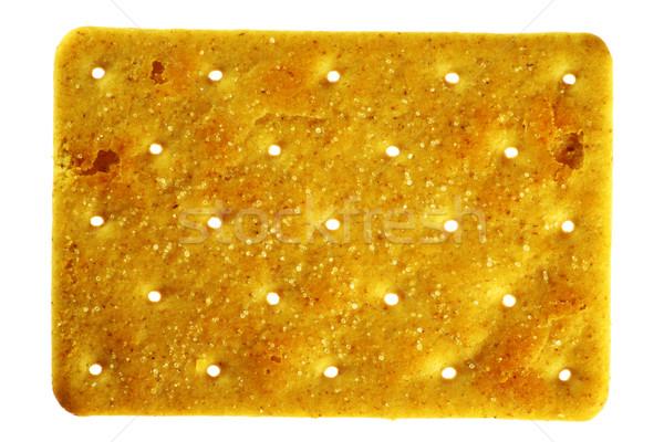 Salty rectangular cracker Stock photo © vavlt