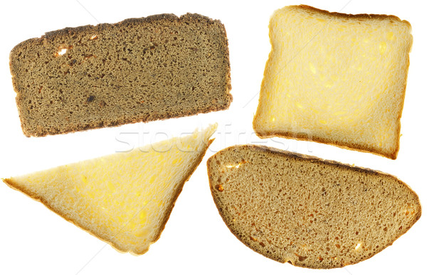 Texture of  rye and white bread Stock photo © vavlt