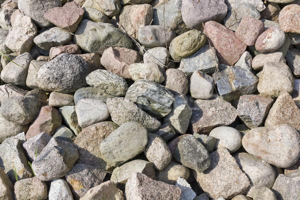 Gránit kövek nap napsütés nyár rózsaszín Stock fotó © vavlt