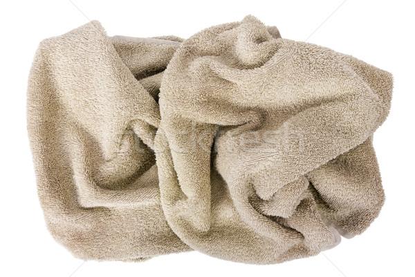 Abstrato escultura bege massa produção toalhas Foto stock © vavlt