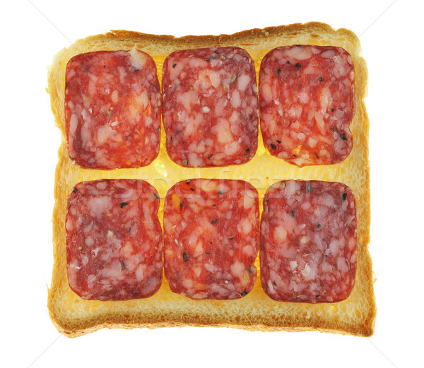 Sandwiches with  salami isolated Stock photo © vavlt