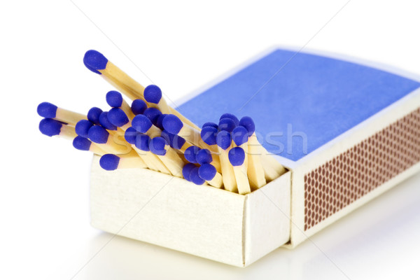 Matches with dark blue heads Stock photo © vavlt