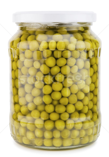 Bank of canned green peas Stock photo © vavlt