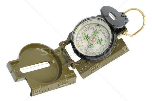 Oude stoffig militaire kompas groene massa Stockfoto © vavlt