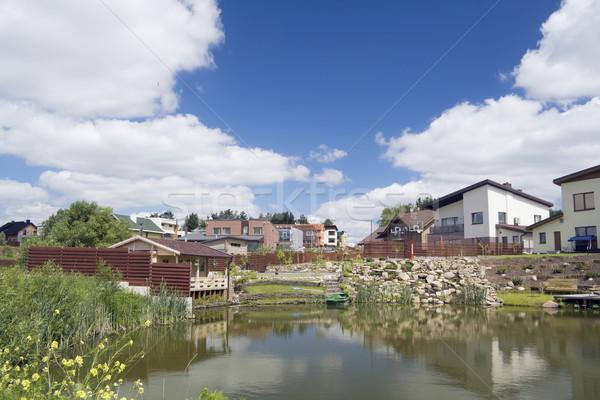 Settlement village of your dream Stock photo © vavlt