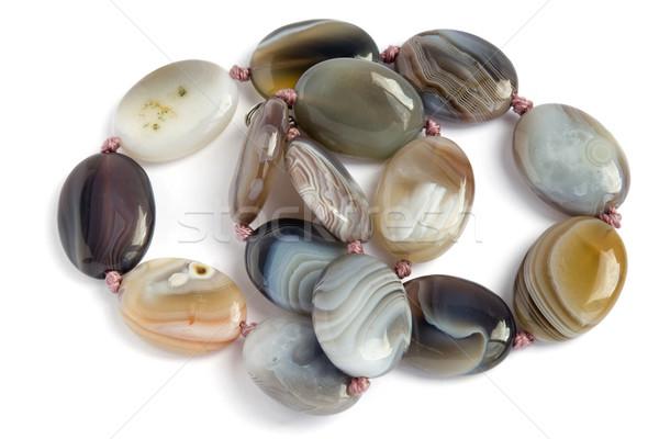 necklace from semiprecious jasper Stock photo © vavlt
