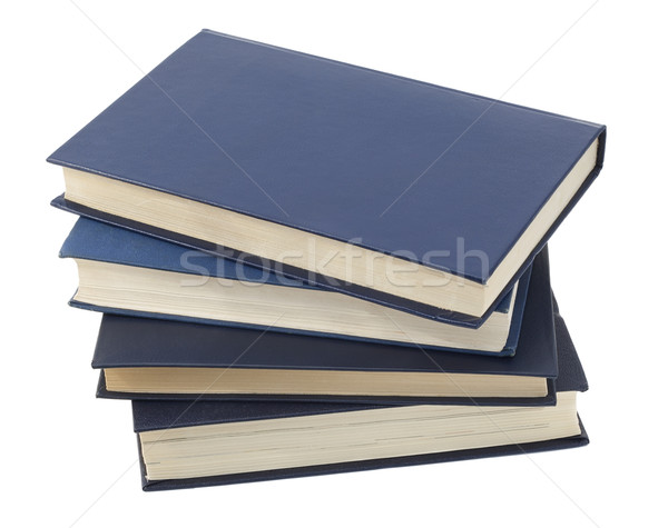 Vier Blauw magie boeken oude geïsoleerd Stockfoto © vavlt