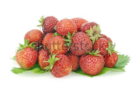 Small group of the real fresh garden strawberry Stock photo © vavlt