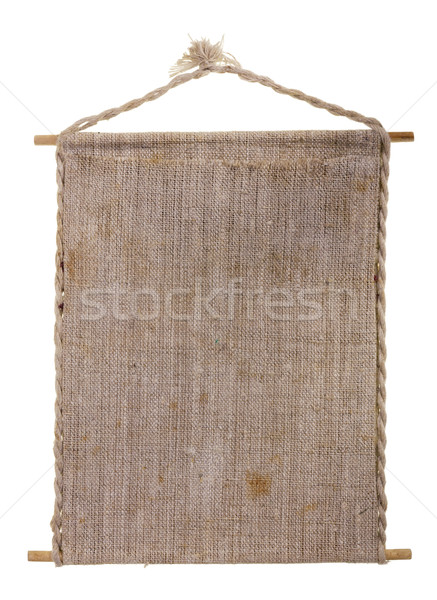 Flax canvas banner Stock photo © vavlt