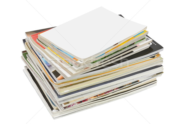 stack of old  glamorous  magazines Stock photo © vavlt