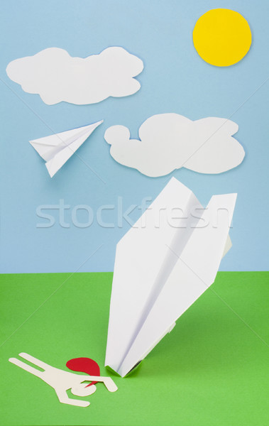 Wreck of the plane  concept Stock photo © vavlt