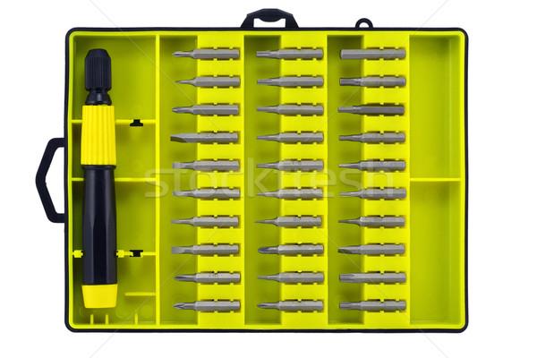 Establecer universal consejos amarillo cuadro aislado Foto stock © vavlt