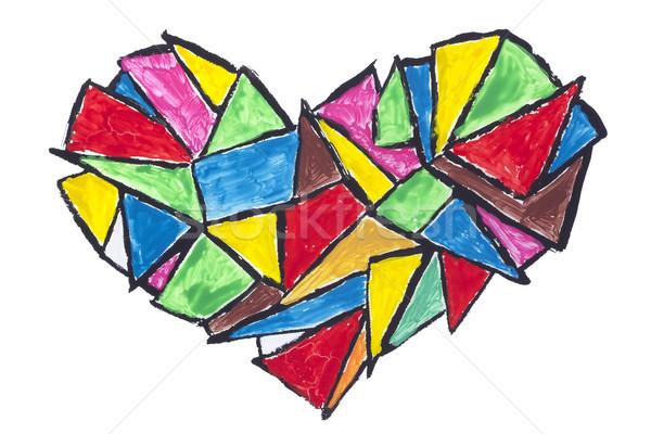 broken heart abstract concept Stock photo © vavlt