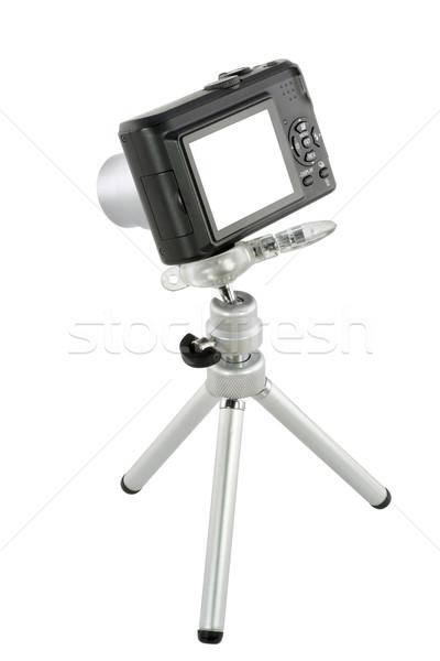 Czarny zwarty aparat cyfrowy mini masa Zdjęcia stock © vavlt