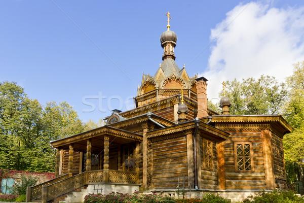 Edad ruso ortodoxo iglesia bosques Foto stock © vavlt