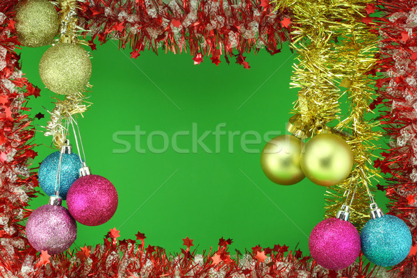 New Year's garland with colour balls Stock photo © vavlt