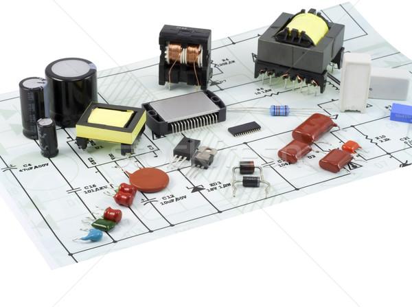 électronique composants électriques Photo stock © vavlt