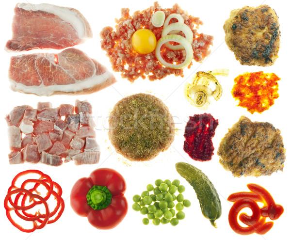 набор компоненты приготовления еды мяса яйцо Сток-фото © vavlt