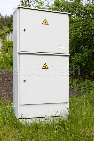 Elektrische dorp metaal vak verbinding klein Stockfoto © vavlt