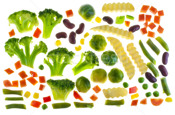 Slices of raw isolated vegetables  Stock photo © vavlt