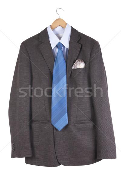 Marrom velho jaqueta azul amarrar camisas Foto stock © vavlt