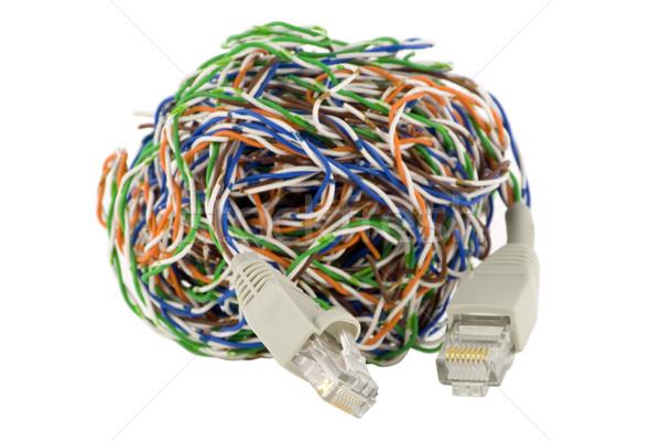 Odizolowany cyfrowe sieci świat kabel komputerowy mylić Zdjęcia stock © vavlt