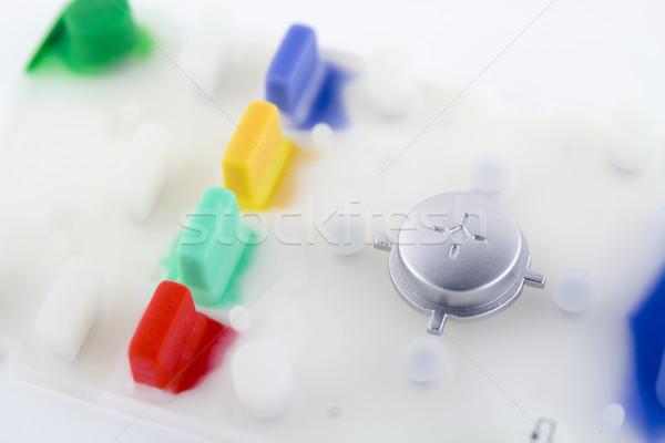 Principal poder botón macro fuerte Foto stock © vavlt