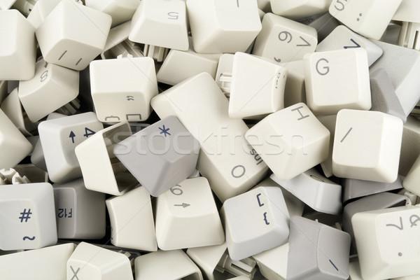 Hoop sleutels knoppen oude toetsenbord veiligheid Stockfoto © vavlt