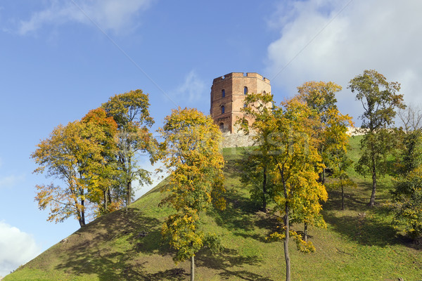 Eski eski kale kamu alan kırmızı Stok fotoğraf © vavlt