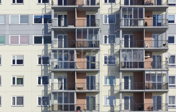 Windows of a multiroom apartment house  Stock photo © vavlt