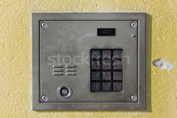 old door lock with numeric keypad  Stock photo © vavlt