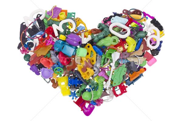 Coeur brisé pas nom jouets vieux Photo stock © vavlt