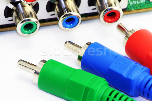 RGB video connectors Stock photo © vavlt